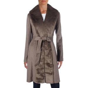 Ellen Tracy Beige Faux Fur Coat
